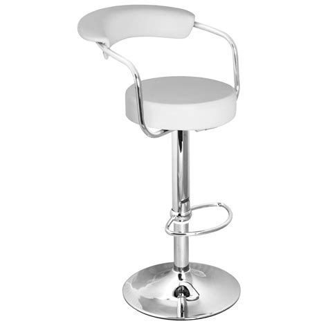 kitchen bar stools white zenith bar stool with arms white size x 370mm x 390mm