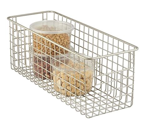 Pantry Wire Baskets by Mdesign Wire Storage Basket For Kitchen Pantry Cabinets