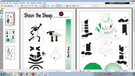 Sheep Papercraft - shaun the sheep papercraft