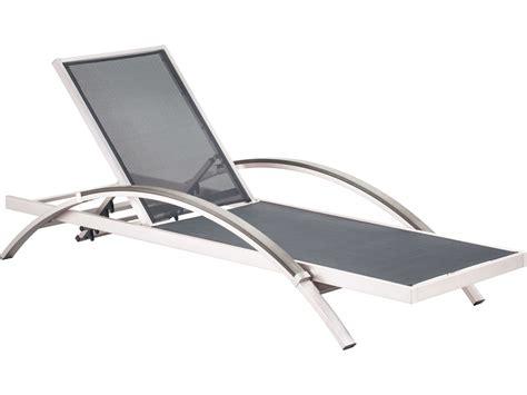 mesh chaise lounge zuo outdoor metropolitan aluminum faux wood mesh chaise