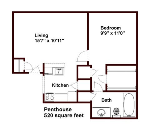520 square feet floor plans and pricing for walden court apartments