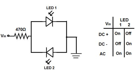 voltage polarity of resistor how to build a voltage polarity indicator circuit