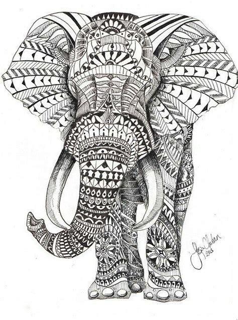 tattoo elephant vorlage elephant woodburning pinterest ausmalbilder