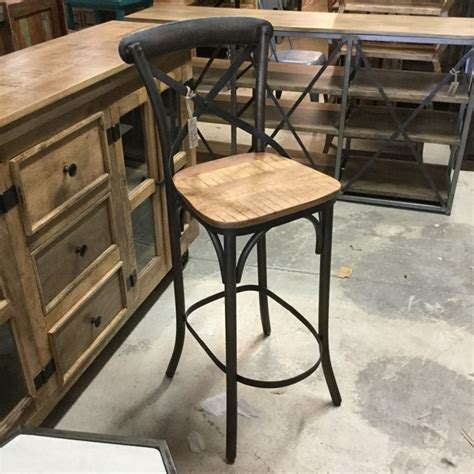X Back Bar Stool Wood by X Back Bar Stool With Wood Seat Nadeau Miami