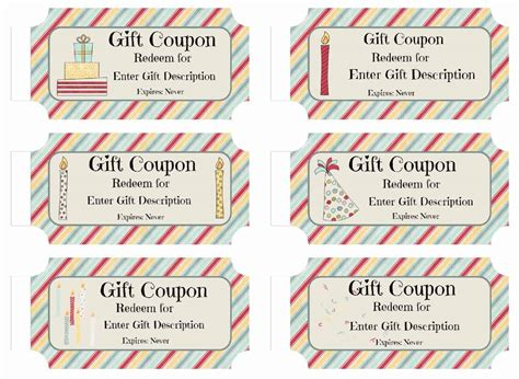 Free Custom Birthday Coupons Customize Online Print At Home Birthday Gift Coupon Template
