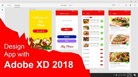 app design year 6 amazing app design with adobe xd cc 2018 really fast youtube