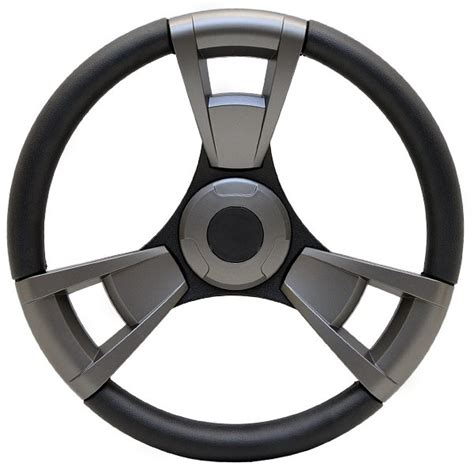 pontoon steering wheel godfrey pontoon black charcoal vinyl 3 spoke 13 3 4 inch