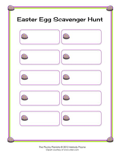 template for scavenger hunt easter egg scavenger hunt elementary and diy versions