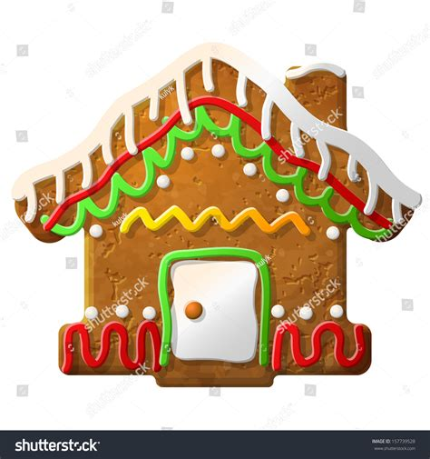 new year shaped cookies gingerbread house decorated colored icing stock