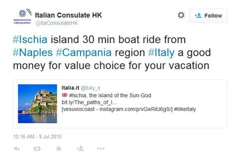 consolato italiano hong kong il consolato italiano a hongkong sceglie ischia il