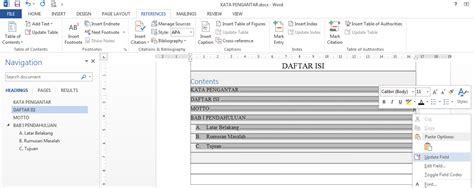 cara membuat jurnal di word membuat daftar isi dari jurnal cara membuat daftar isi