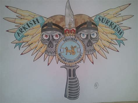 raf tattoo designs raf 1st squadron chest design by