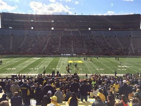 Section 4 Football by Sideline Michigan Stadium Football Seating
