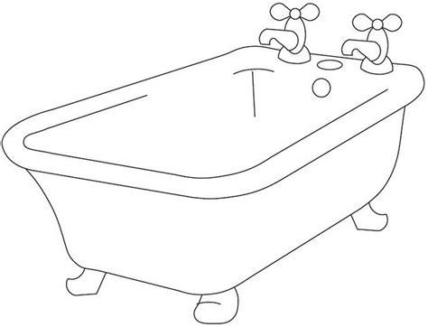 coloring page bathtub bathtub coloring pages