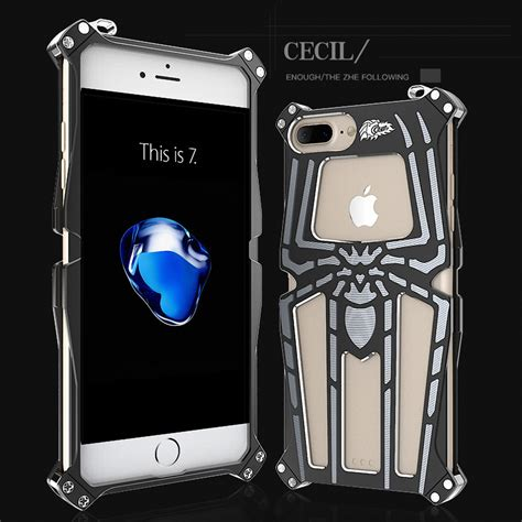 Iphone 6 6s Original Metal Shell Of Cool Metal Thor Cover Casing cool aluminum tough armor spider metal cover for iphone 5 6 6s plus 7