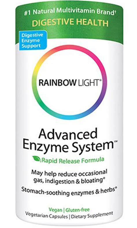 rainbow light advanced enzyme system best vegan digestive enzymes supplement guide