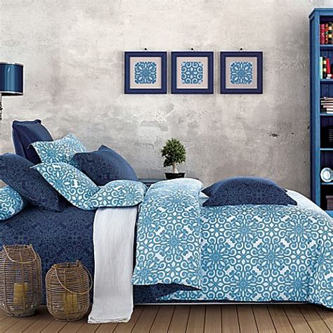 sherry kline bedding sherry kline illusions reversible comforter set in blue
