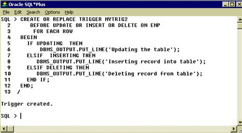 tutorial oracle trigger oracle 9i database triggers it training and consulting