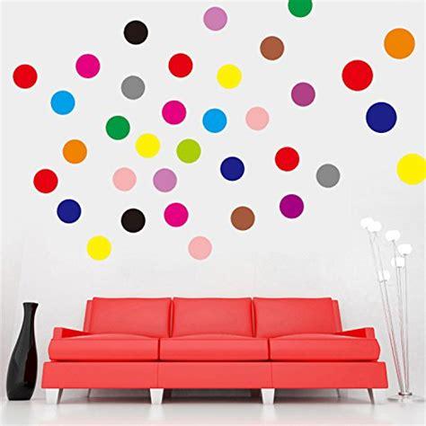 removable circle polka dots wall art vinyl sticker decal set of 102 polka dot vinyl circles dots wall art decor