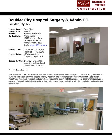 Boulder Hospital Detox by Recent Projects Blanchard Hoffman Construction