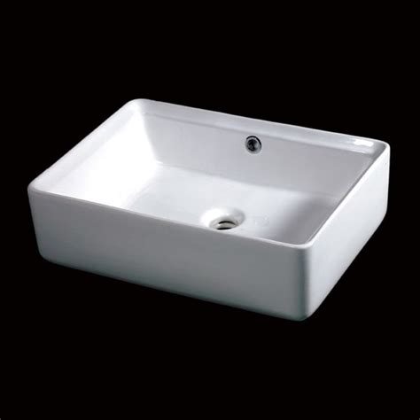 Bathroom Vanity With Vessel Sink Mount by Eago 20 In Rectangular Ceramic Above Mount Vessel Sink