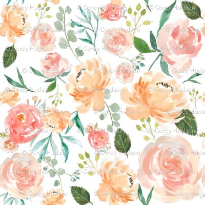 peach pattern png peach watercolor delight flowers fabric