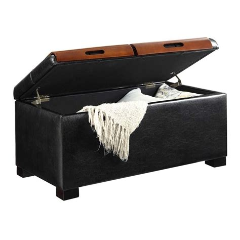 Coffee Table Ottoman In Black 163020b Black Coffee Table Ottoman