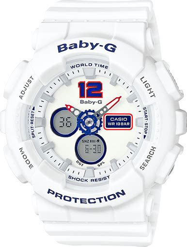 Baby G Casio Dg 120 Blue ba120tr 7b baby g white tricolor series womens watches