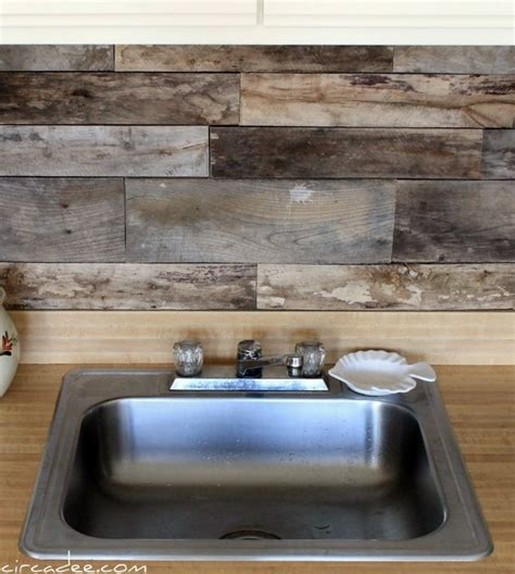 pallet wood backsplash pallet backsplash diy projects