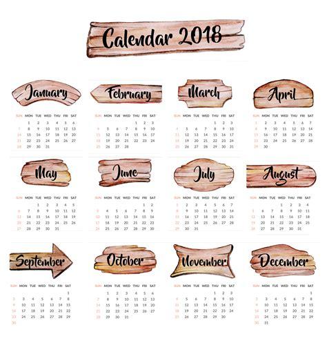 Togo Kalender 2018 2018 Year Calendar Wallpaper Free 2018 Calendar