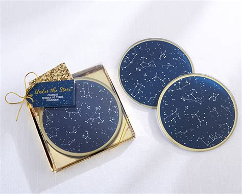 Wedding Favors Glass Coasters by The Constellation Glass Coasters