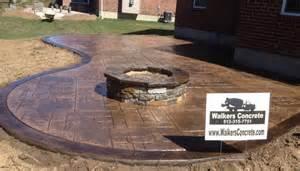 Concrete Patio Fire Pit Walkers Concrete Llc Cincinnati Outdoor Fireplaces And