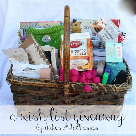 Wish Giveaway - a wish list giveaway dukes and duchesses
