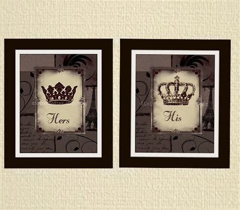 his and hers crown prints 8x10 set of two by