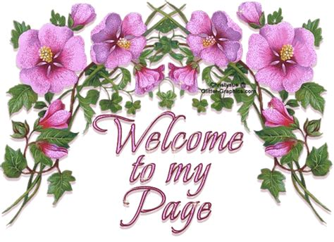 welcome images with flowers glitter words glitter text 187 welcome 187 welcome to my