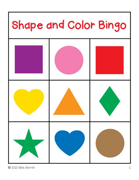 printable shapes games shapes and colors bingo game cards 3x3 sallieborrink com