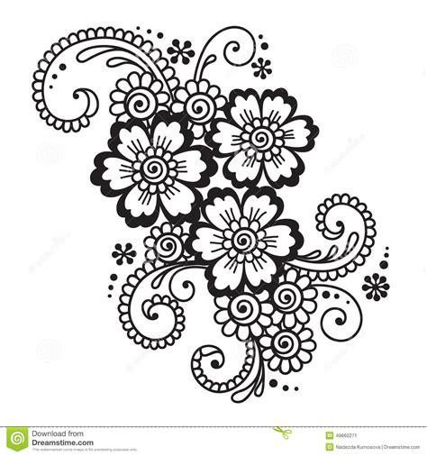 fiore designs henna mehndi flower ornament astratta disegnata a mano
