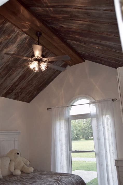 rusty tin ceiling top coated  def polyurethane satin