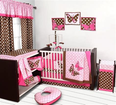 Pink And Brown Butterfly Crib Bedding Butterfly Crib Bedding Crib Bedding Sets