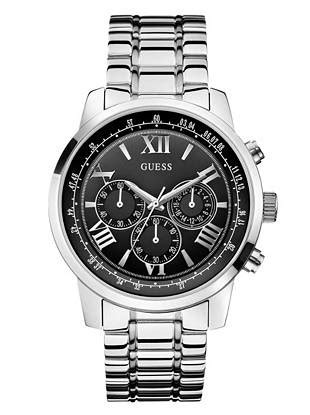 Guess Loop Black Silver black and silver tone classic chronograph sport guess