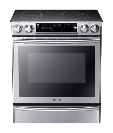 samsung ne58f9710ws 30 quot flex duo slide in electric range w convection oven stainless steel
