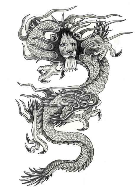 dragon tattoo stencils lysergic bliss