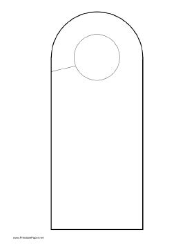 Printable Rounded Doorhanger Free Printable Door Knob Hanger Template