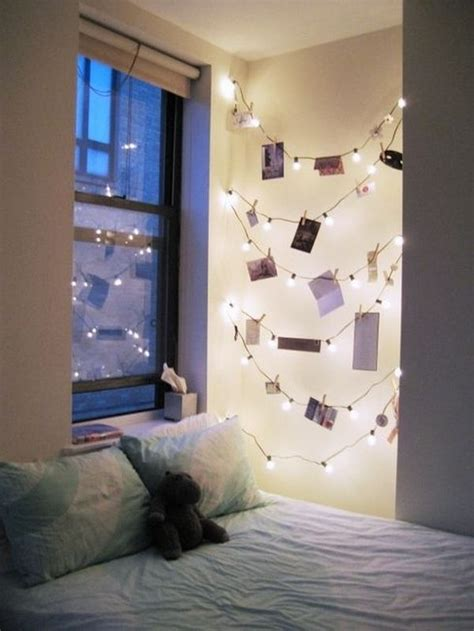String Lights Ideas Bedroom How To Use String Lights For Your Bedroom 32 Ideas Digsdigs