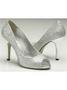pink by paradox 9 5cm heel sparkly silver glitter shoe silver