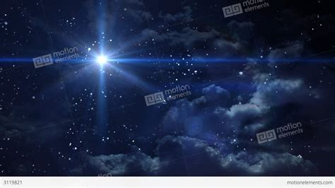 bethlehem star cross blue planet flare at night ga stock