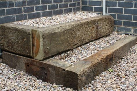 Raised Beds With Railway Sleepers by Raised Beds From Used Oak Railway Sleepers