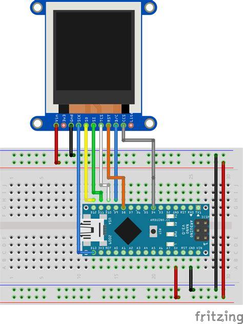 arduino diy photo frame  st  tft display