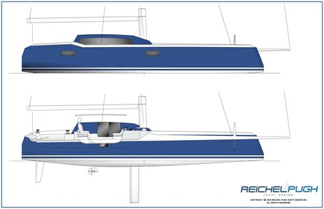 hull design for catamaran reichel pugh yacht design 183 multihull