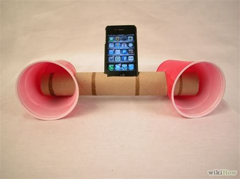 How To Make A Paper Phone That Works - how to make paper cup iphone speakers 6 steps with pictures